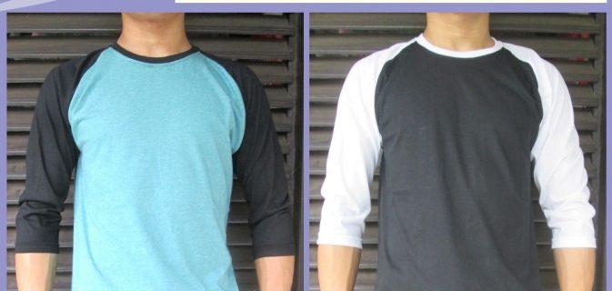 Grosir Baju Distro Cimahi Murah Distributor Kaos Distro Raglan Polos Dewasa Murah di Cimahi 30Ribu