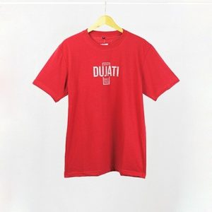Grosir Baju Distro Cimahi Murah kaos distro dujati typography merah